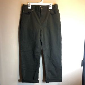 vintage high waisted army green jeans size 10p